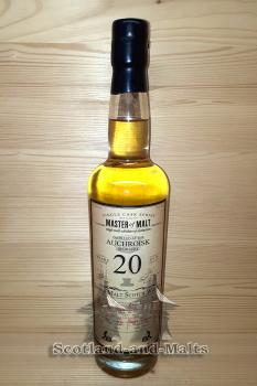 Auchroisk 1994 - 20 Jahre refill Bourbon Hogshead mit 50,1% - Master of Malt Single Cask Bottlings