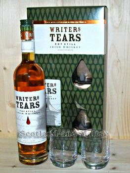 Writers Tears - Pot Still Irish Whiskey mit 2 Gläser