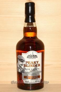 Peaky Blinder Triple Distilled Irish Whiskey aged in Sherry Casks mit 40,0% for Sadlers Brewing Co