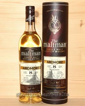 Ardmore 2010 - 8 Jahre Amarone Cask Finish No. 801439 mit 46,0% von The Maltman - single Malt scotch Whisky / Sample ab