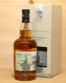 Glenrothes 1996 - Tasty Cake Mix - 23 Jahre Bourbon Hogshead mit 46,0% von Wemyss Malts - single Malt scotch Whisky