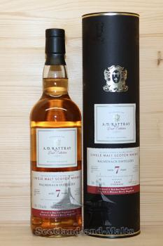 Balmenach 2010 - 7 Jahre Bourbon Cask + Sherry Finish No. 11 mit 57,5% - A.D.Rattray
