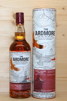 Ardmore 12 Jahre Port Wood Finish mit 46,0% - Highland single Malt scotch Whisky