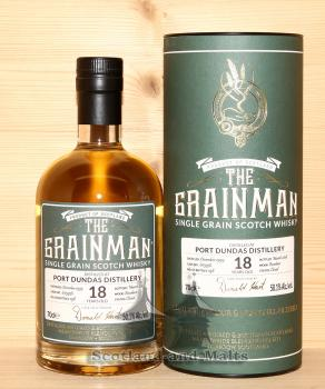 Port Dundas 1999 - 18 Jahre Bourbon Cask No. 603936 mit 50,1% von The Grainman - single Grain scotch Whisky