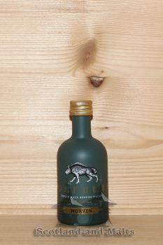 Wolfburn Morven lightly peated Miniatur - single Malt scotch Whisky - Wolfburn Distillery