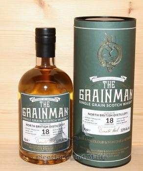 North British 2000 - 18 Jahre Bourbon Cask Cask No. 1001 mit 53,9% - The Grainman / Sample ab