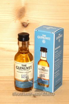 The Glenlivet Founders Reserve mit 40,0% - Single Malt Scotch Whisky in der 50ml Miniatur