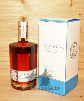 The Nine Springs Peated Breeze Edition single Malt Whisky mit 54,0% von der Number Nine Spirituosenmanufaktur aus Thüringen
