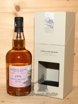 Blair Athol 1991 / 2018 - Apple and Nut Flapjack - 26 Jahre Bourbon Hogshead mit 46,0% von Wemyss Malts - single Malt scotch Whisky