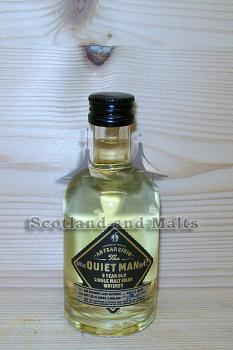 Quiet Man 8 Jahre Irish single Malt Whiskey mit 40% - Miniatur