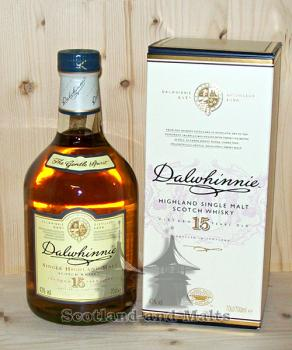 Dalwhinnie 15 Jahre Highland single Malt Whisky mit 43% aus Schottland