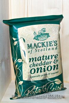 Mackies of Scotland - mature Cheddar und Onion - 150g Potato Crisps