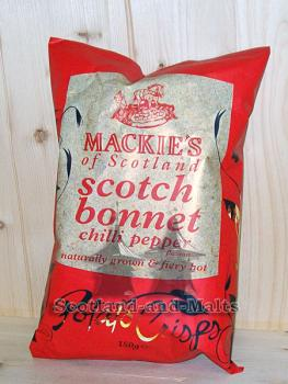 Mackies of Scotland - scotch bonnet Chilli Pepper - 150g Potato Crisps