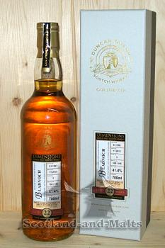 Bladnoch 1991 - 22 Jahre Sherry Cask No. 5 mit 41,4% - Duncan Taylor New Dimension