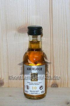 Aberlour 10 Jahre - Highland single Malt scotch Whisky - Miniatur