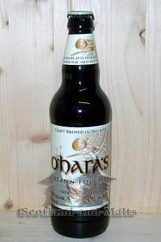 Extra Irish Stout Leann Follain 6,0% - oHaras Extra Irish Stout brewed in Ireland - ein Extra Stout aus Irland