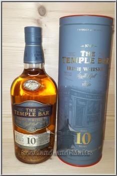 The Temple Bar 10 Jahre Irish single Malt Whiskey mit 40%