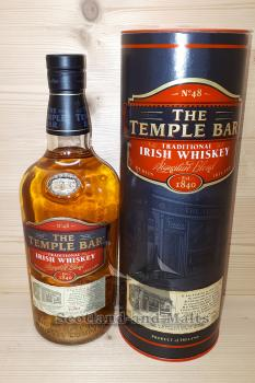 The Temple Bar Traditional Irish Whiskey mit 40% - Blended Irish Whiskey