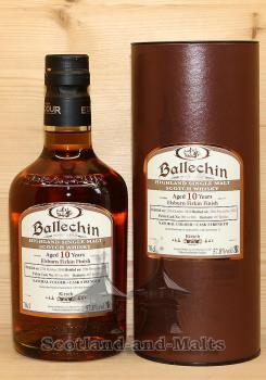 Ballechin 10 Jahre mit ElsBurn Firkin Finish und 57,8% Heavily Peated Highland Single Malt scotch Whisky from Edradour Distillery