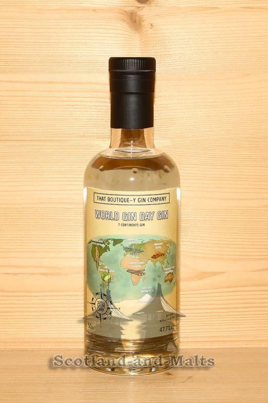World Gin Day Gin Batch 1 - 7 Continents Gin mit 47,7% von der That Boutique-y Gin Company