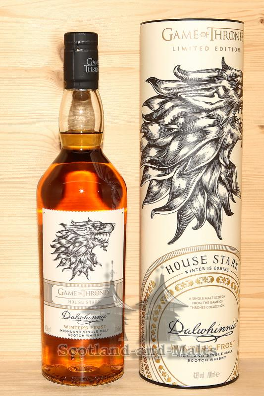 Dalwhinnie Winter's Frost - Game of Thrones House Stark - single Malt scotch Whisky