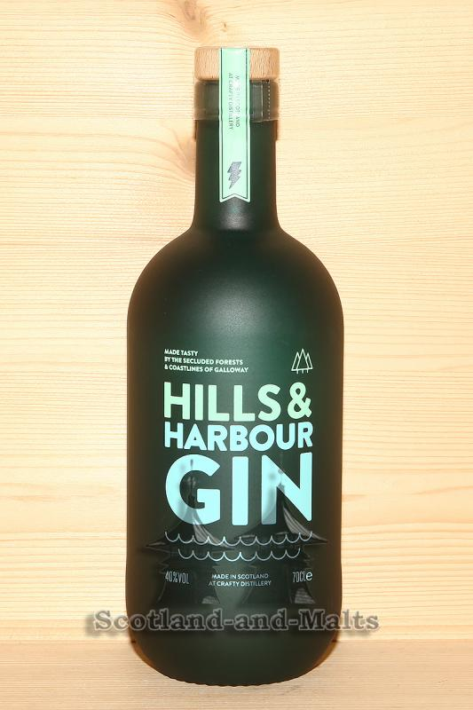 Hills and Harbour Gin - Scottish Gin with Bladderwrack Seaweed and Noble Fir mit 40,0% - Gin mit Blasentang und Edeltanne aus Schottland