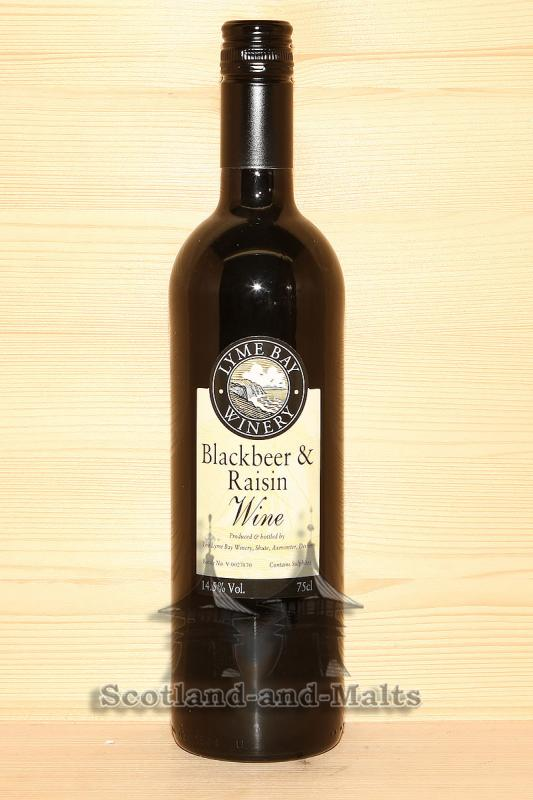 Blackbeer and Raisin Wine - Schwarzbier und Rosinen Wein von der Lyme Bay Winery