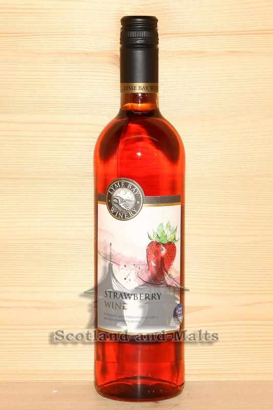 Strawberry Wine - Erdbeer Wein von der Lyme Bay Winery
