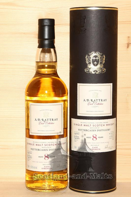 Fettercairn 2009 - 8 Jahre Bourbon Hogshead No. 1091 mit 60,3% single Malt scotch Whisky von A.D. Rattray