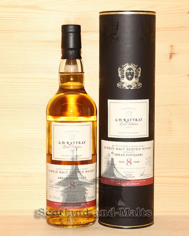 Arran 2011 - 8 Jahre First Fill Bourbon Barrel No. 2 mit 58,7% - A.D.Rattray