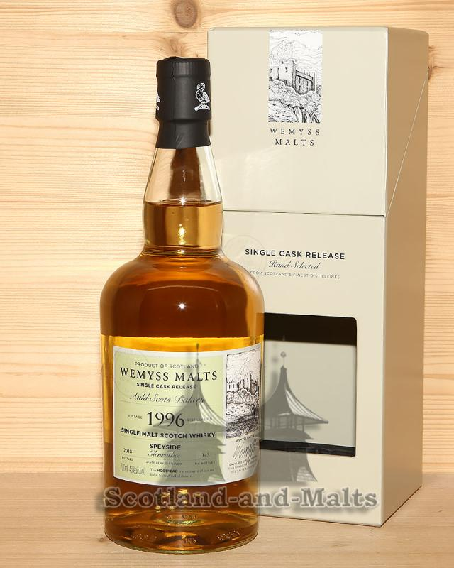 Glenrothes 1996 / 2018 - Auld Scots Bakery - 22 Jahre Bourbon Hogshead mit 46,0% von Wemyss Malts - single Malt scotch Whisky