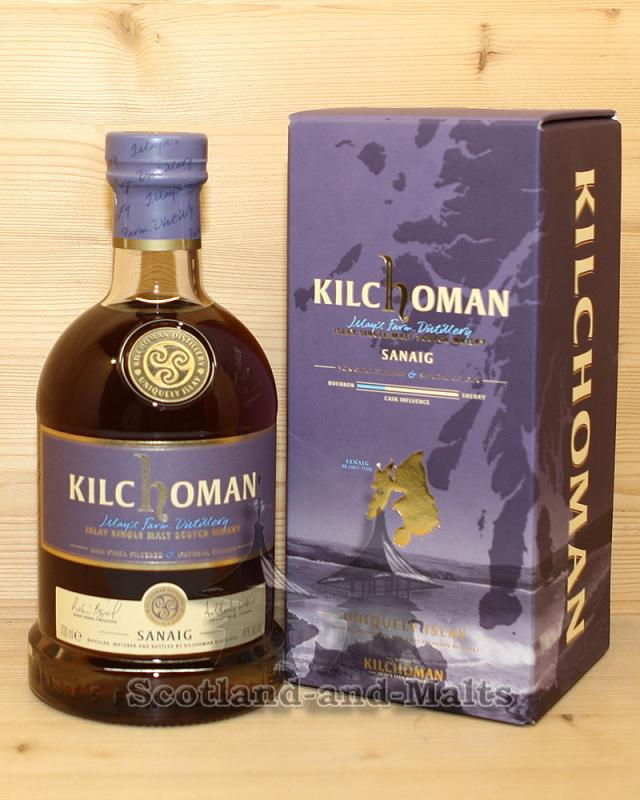 Kilchoman Sanaig Dark Batch mit 46,0% - Islay Single Malt Scotch Whisky