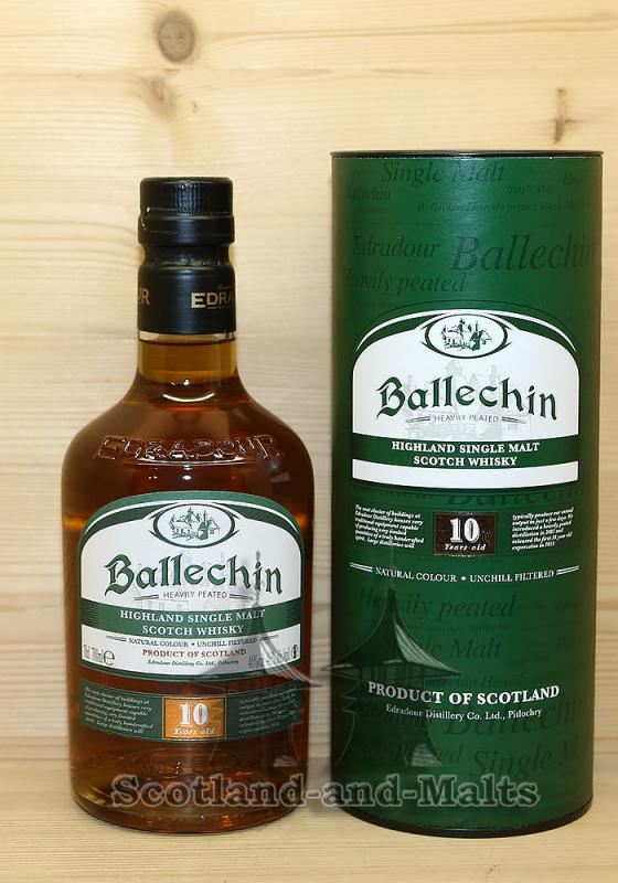 Ballechin 10 Jahre mit 46,0% - Heavily Peated Single Malt scotch Whisky from Edradour Distillery