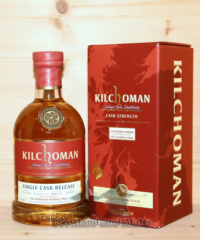Kilchoman 2012 - Sauternes Finish Cask No. 209/2012 mit 58,0% Bottled Exclusively for Kilchoman Distillery Shop
