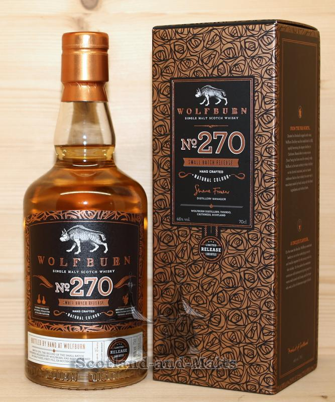 Wolfburn No. 270 small Batch Release - single Malt scotch Whisky - Wulfburn Distillery