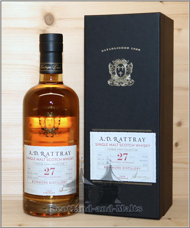 Bowmore 1990 - 27 Jahre Bourbon Barrel No. 4165 mit 50,6% - A.D.Rattray / Sample ab