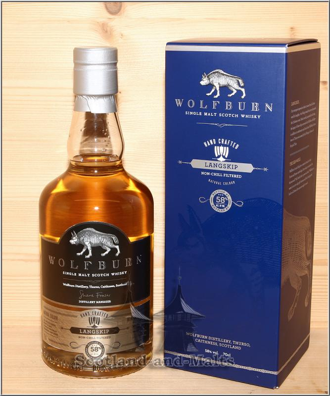 Wolfburn Langskip 5 Jahre First Fill Bourbon Casks mit 58,0% - single Malt scotch Whisky - Wolfburn Distillery