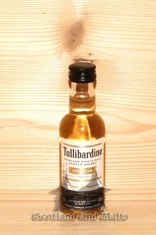 Tullibardine Souvereign mit 43,0% - Highland Single Malt scotch Whisky in der 50ml Miniatur