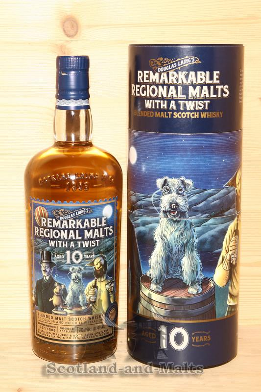Remarkable Regional Malts with a Twist 10 Jahre -  Blended Malt Scotch Whisky von Douglas Laing mit 48,0%