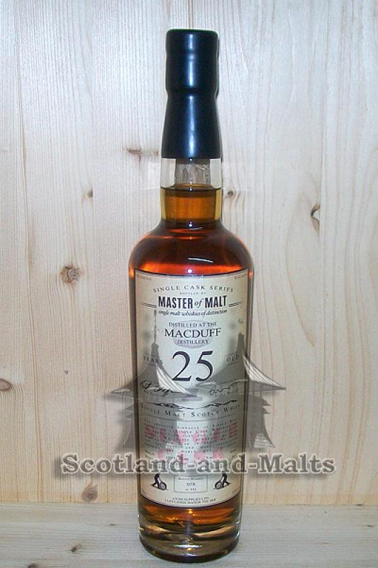 Macduff 1990 - 25 Jahre Sherry Butt 55,0% - Master of Malt Single Cask Bottlings