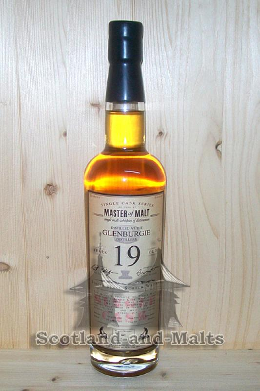 Glenburgie 1995 - 19 Jahre refill Sherry Hogshead 55,8% - Master of Malt Single Cask Bottlings