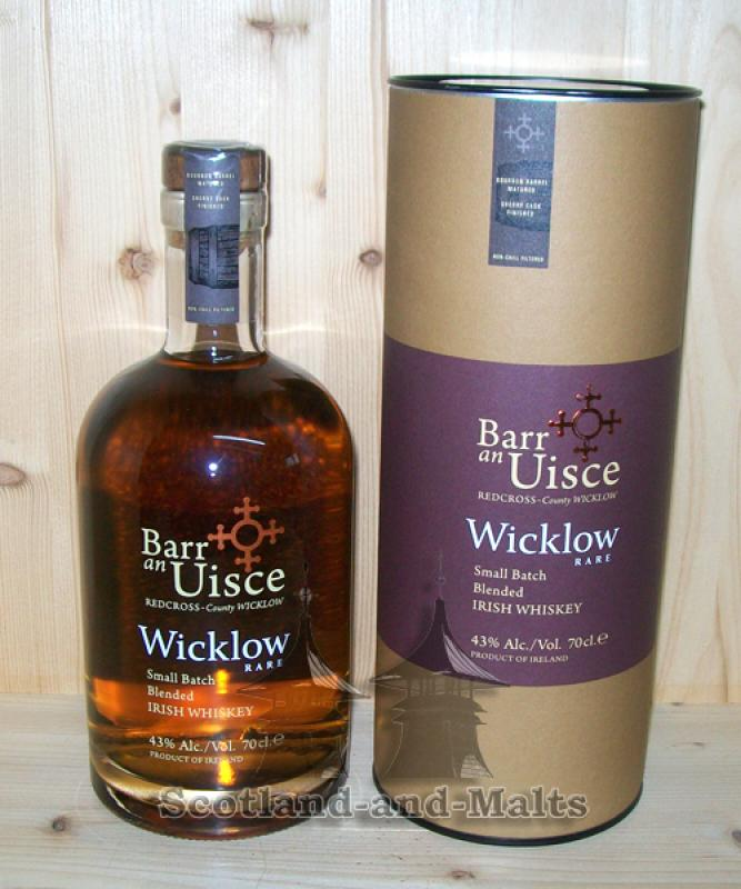 Barr an Uisce Wicklow Rare mit 43% - Small Batch Blended Irish Whiskey
