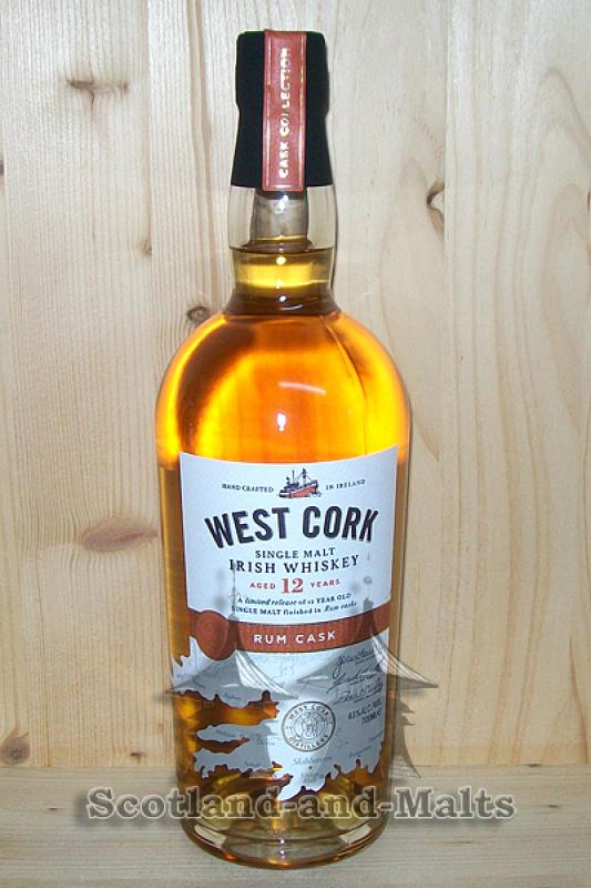 West Cork 12 Jahre - Rum Cask Finish - Irish single Malt Whiskey