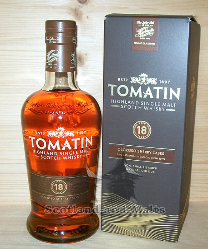 Tomatin 18 Jahre Oloroso Sherry Casks Finish mit 46% - Highland single Malt scotch Whisky