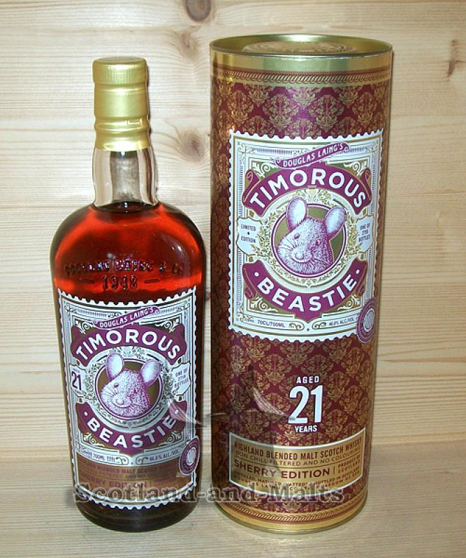 Timorous Beastie Sherry Edition 21 Jahre mit 46,8% - Highland Blended Malt Scotch Whisky - Douglas Laing