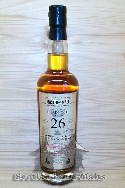 Bladnoch 1990 - 26 Jahre refill Bourbon Barrel 63,2% - Master of Malt Single Cask Bottlings