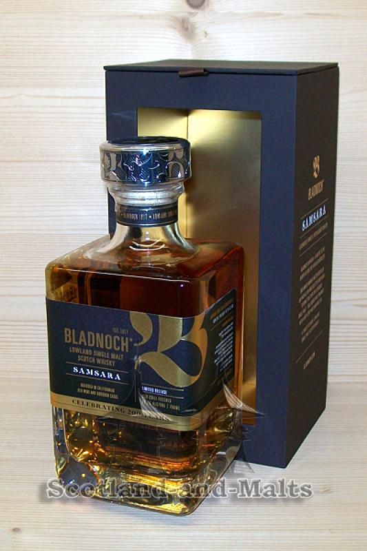 Bladnoch Samsara Celebrating 200 Years Limited Release - gereift in ex Bourbon und kalifornischen Rotweinfässern - Lowland single Malt scotch Whisky