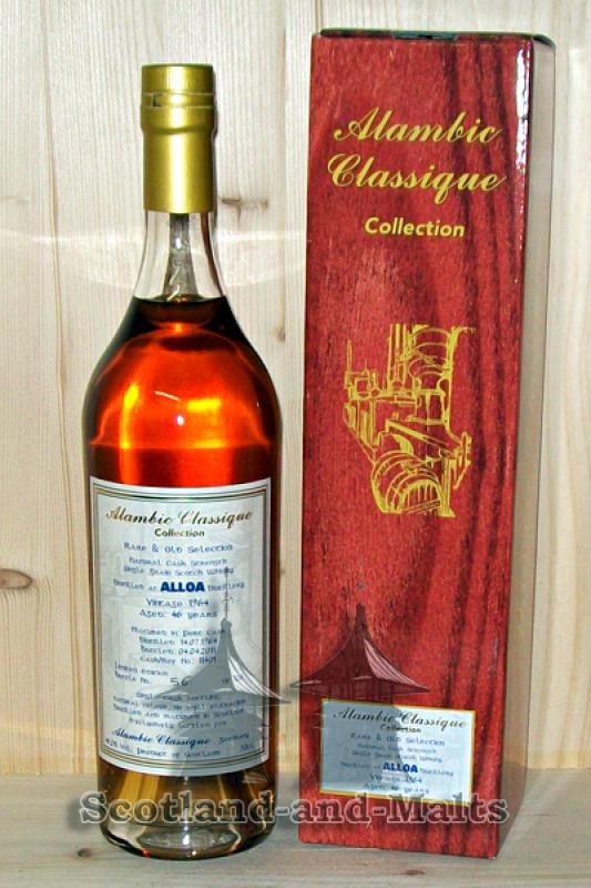 Alloa 1964 - 46 Jahre Port Cask No. 11401 mit 46,2% - Single Grain Whisky aus der Alambic Classique Collection