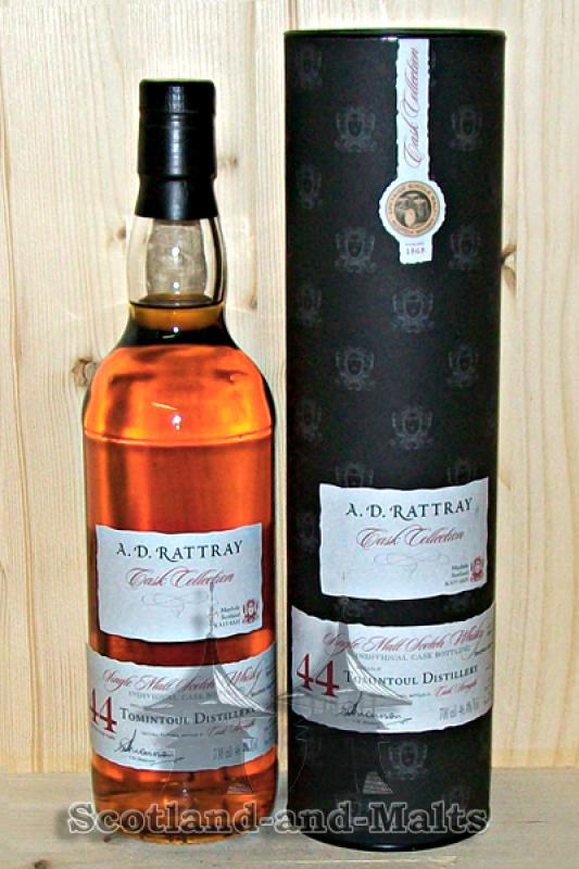 Tomintoul 1967 - 44 Jahre Bourbon Hogshead No. 5405 mit 46,4% - A.D.Rattray