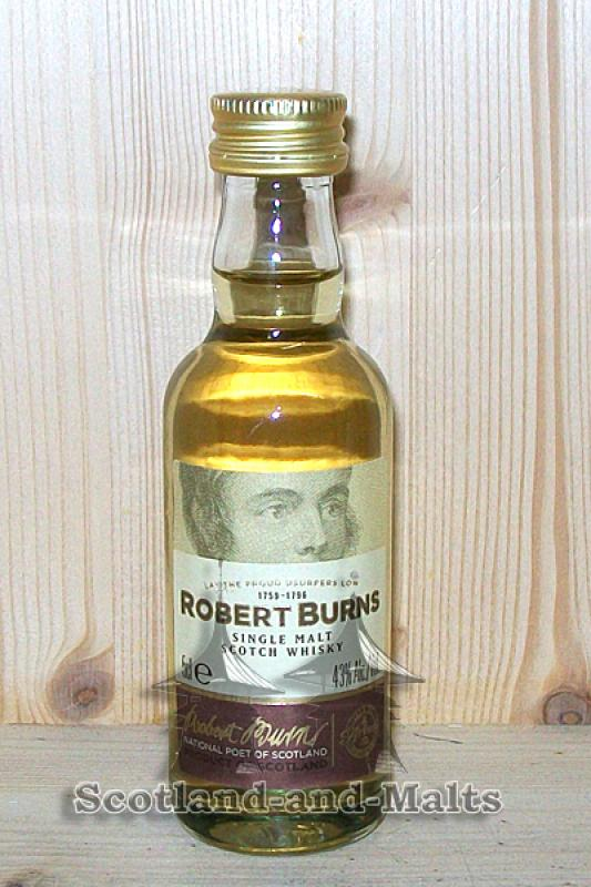 Arran Robert Burns - single Malt Whisky - Miniatur